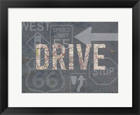 Framed Garage Sign II Print
