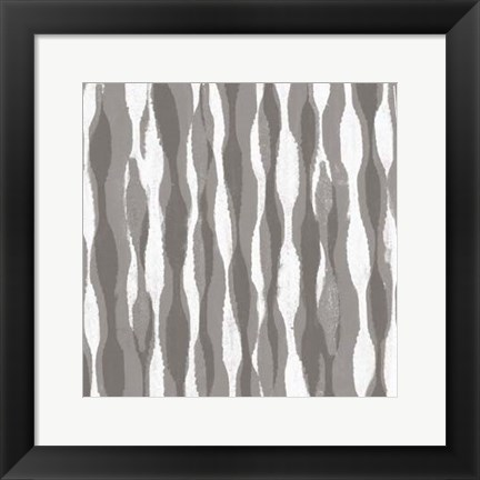 Framed Pattern Waves II Print