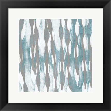 Framed Pattern Waves III Print