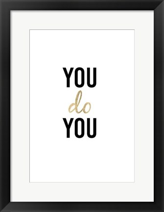 Framed Golden Quote II Print