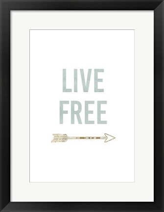 Framed Golden Quote VIII Print