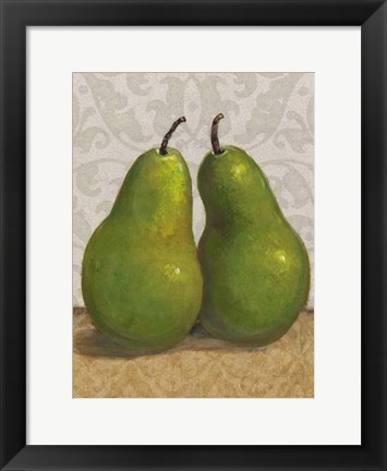 Framed Pear Duo I Print
