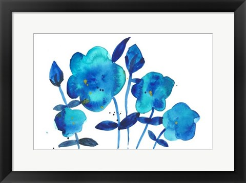 Framed True Blue I Print