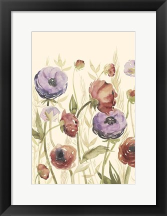 Framed Jeweltoned Blossoms II Print