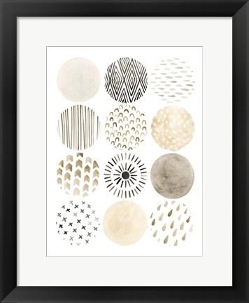 Framed Neutral Pattern Play II Print