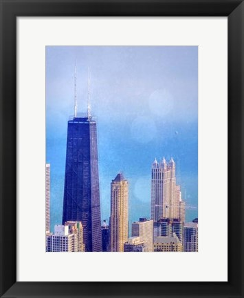 Framed Chi Town II Print