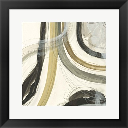 Framed Neutral Lines II Print