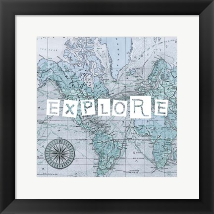 Framed Map Words VI Print