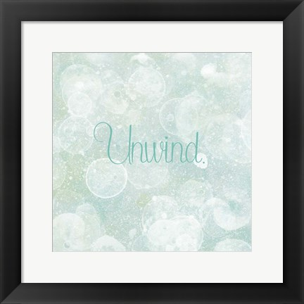 Framed Bubble Bath II Print
