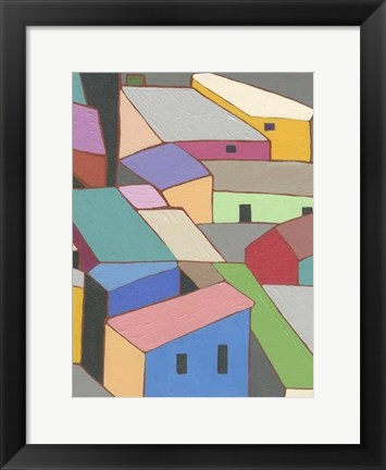 Framed Rooftops in Color VII Print