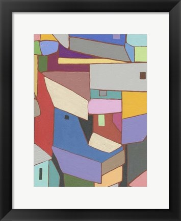 Framed Rooftops in Color X Print