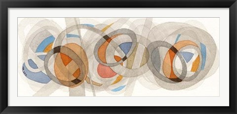 Framed Sepia & Orange Circles Print