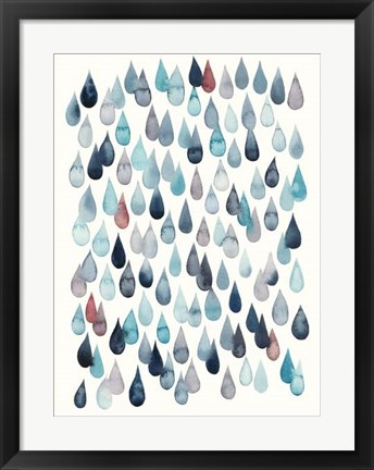 Framed Watercolor Drops II Print