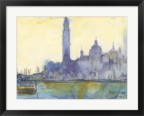 Framed Venice Watercolors VI Print