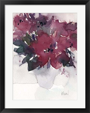Framed Floral Between III Print