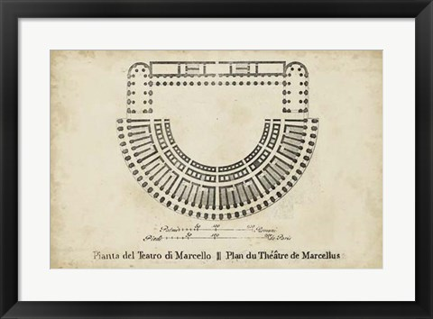 Framed Plan for the Theatre of Marcellus Print