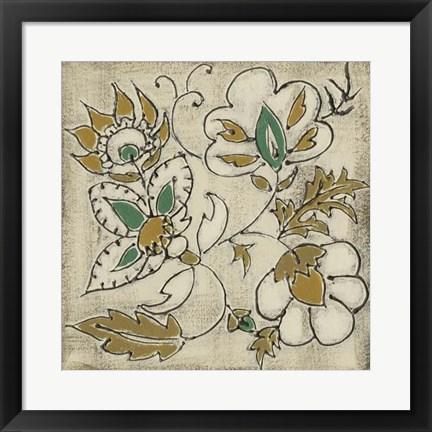 Framed Earthenware Floral IV Print