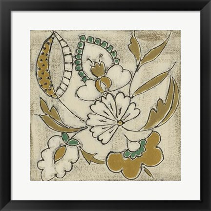 Framed Earthenware Floral V Print