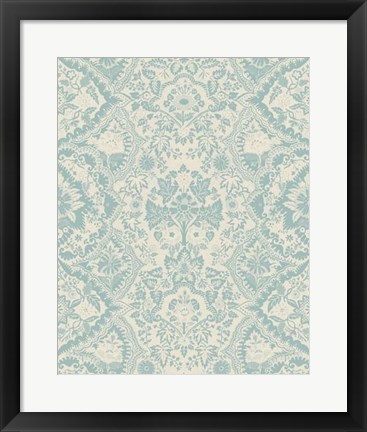 Framed Baroque Tapestry in Spa I Print