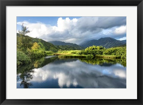 Framed Cloud Reflections I Print