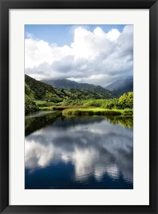 Framed Cloud Reflections II Print