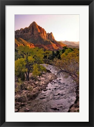 Framed Sunset on the Watchman II Print