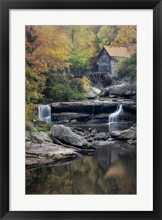 Framed Mill Reflections Print