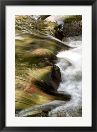 Framed Water Abstract I Print
