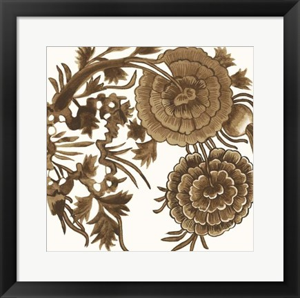 Framed Tapestry Floral III Print