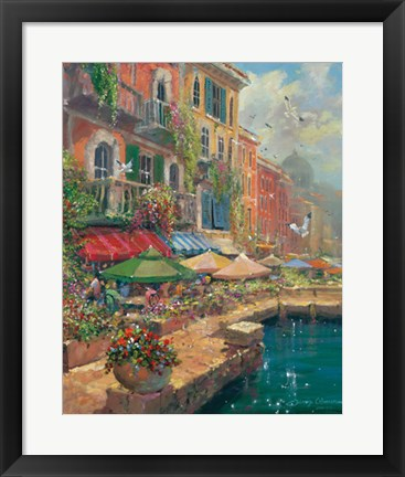 Framed Stroll Along The Marketplace Print