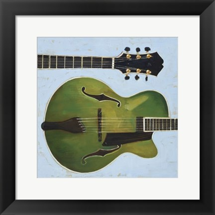 Framed Electric Green Print