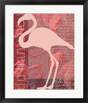 Framed Flamingo Pink Print