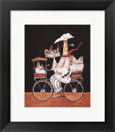 Framed Sheep Chef Print