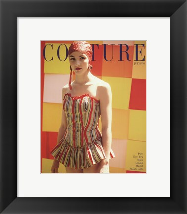 Framed Couture July 1956 Print