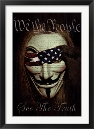 Framed We the People Print