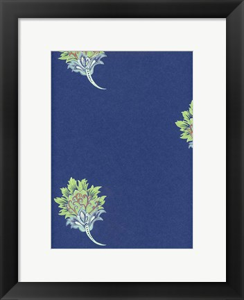 Framed Prussian Blue Print