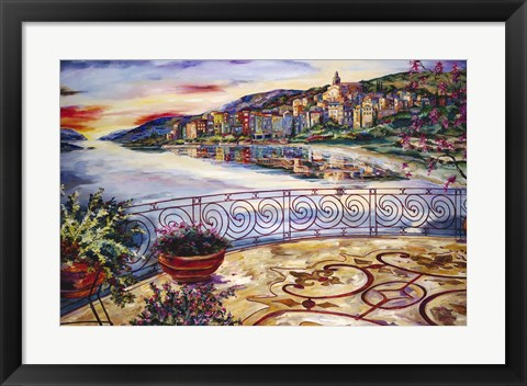 Framed Evening By The Bay Print