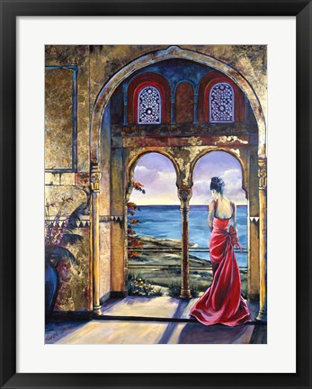 Framed Lady Of The Alhambra Print