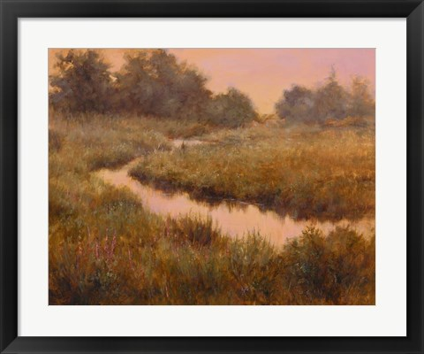 Framed Morning in the Meadow Print