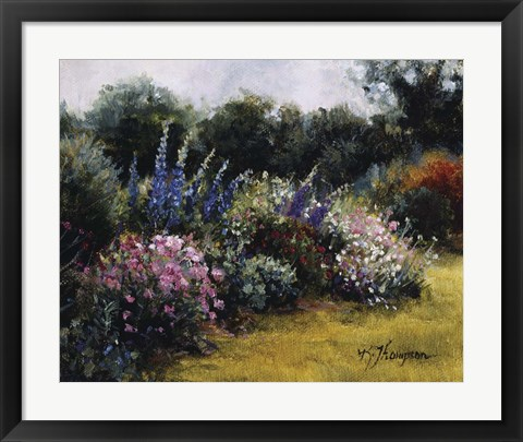 Framed Gardens At Equinox Nursery Print