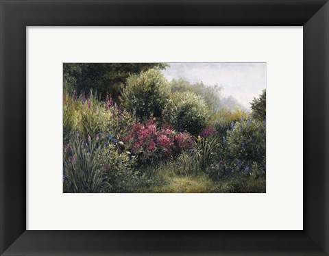 Framed Field Of Flowers Print