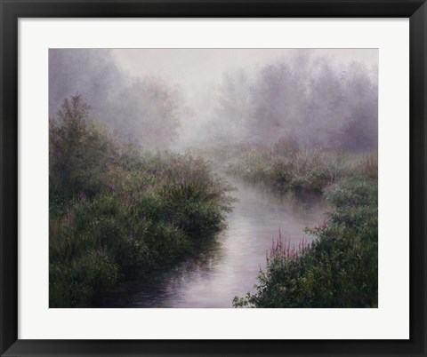 Framed Morning Mist, Arlington Print