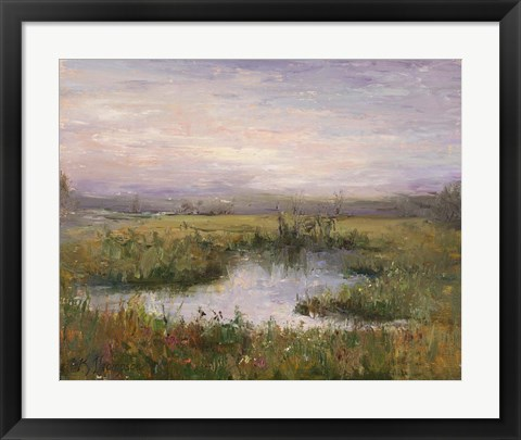 Framed Marsh Sunset Print