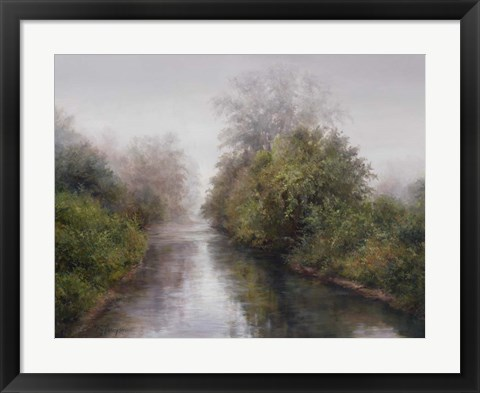 Framed Misty River Print