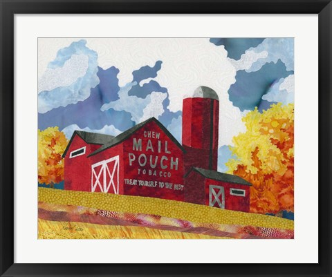 Framed Mail Pouch Barn Print