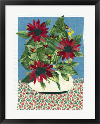 Framed Red Flowers Print