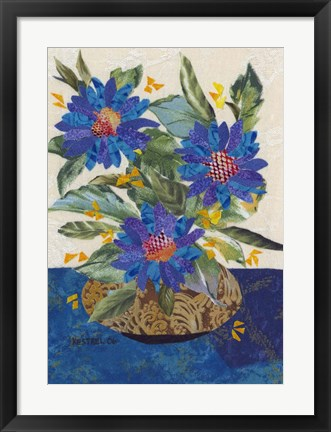 Framed Blue Flowers Print