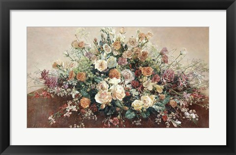 Framed Roses at Round Table Print