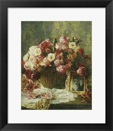 Framed Still Life with a Tapestry Print