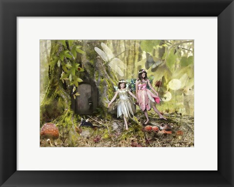 Framed Frolicking Fairies Print
